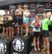 Indiana Spartan Sprint podium