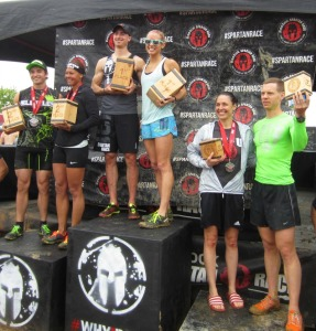 Indiana Spartan Sprint podium