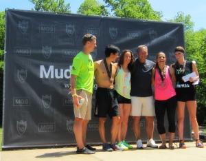 Mud Guts & Glory podium