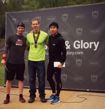 Mud Guts & Glory May 2016 podium